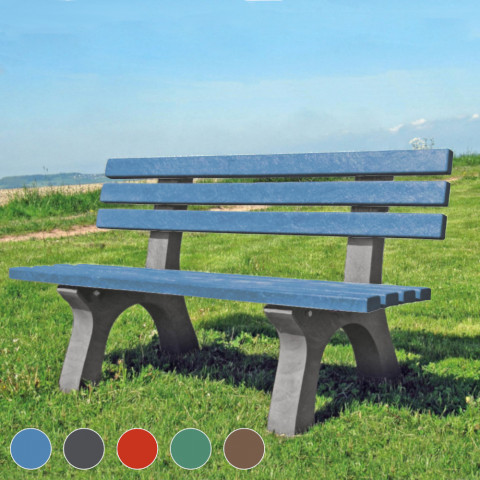 Gartenbank-wetterfest-Kunststoff-rot-hauptbild-wiese-alle-farben_5168