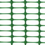 MEDIUM Absperrzaun grün, 1 x 25m plus 10 Premium Stahlstangen