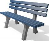 hanit® Sitzbank Trafalgar Square, Recycling-Kunststoff wetterfest; 2m; grau-blau