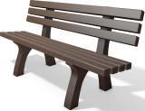 hanit® Sitzbank Trafalgar Square, Recycling-Kunststoff wetterfest; 2m; schwarz-braun