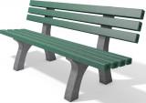 hanit® Sitzbank Trafalgar Square, Recycling-Kunststoff wetterfest; 2m; grau-grün