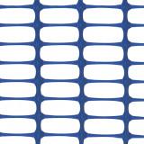 MEDIUM Absperrzaun blau, 1 x 50m plus 10 Premium Stahlstangen