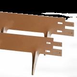 Hochwertige Metall Rasenkante, Beeteinfassung, 1m x 75mm, rostbraun