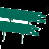 Hochwertige Metall Rasenkante, Beeteinfassung, 1m x 75mm, moosgrün
