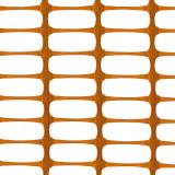 MEDIUM Absperrzaun, Kunststoff Bauzaun, 140g/m², 1 x 25m, orange
