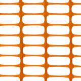 MEDIUM Absperrzaun orange, 1 x 50m plus 10 Premium Stahlstangen