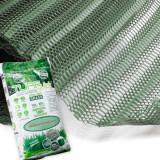 GrassProtecta® Premium Rasengitter, 1x10m-Rolle plus 100 Befestigungspins und 10m² TURFquick Rasenmatte