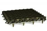 Befahrbares Rasengitter, Rasenwaben für belastbare Grün- und Kiesflächen (492 x 492 x 39mm)